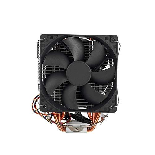 SymArt cojín de enfriamiento CPU Cooler 12 Cm Ventilador 6 Pin Caliente De Cobre 4pin Radiador De Doble Ventilador Máquina De...
