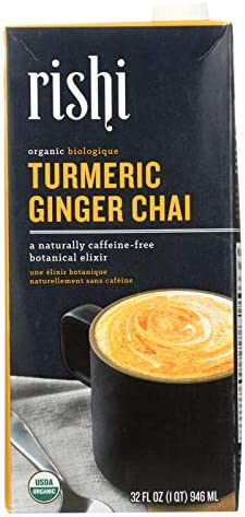 Rishi Chai Concentrate Turmeric Ginger Case of 12 32 Fl oz product image