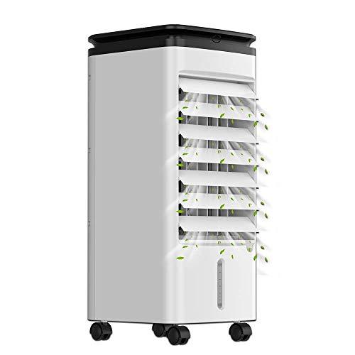 KLIM™ Fresh - Condizionatore portatile + Raffrescatore evaporativo + Rinfresca e umidifica l'ambiente + 3 velocità con oscillazione + raffrescatore ad acqua con bottiglie refrigeranti + NOVITÀ 2020