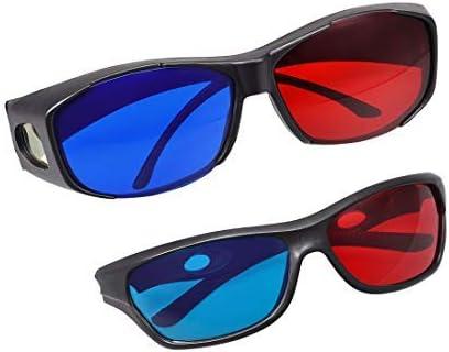 NA Red-Blue 3D Glasses Black Frame Glass Max 46% OFF Films Visoin Selling for