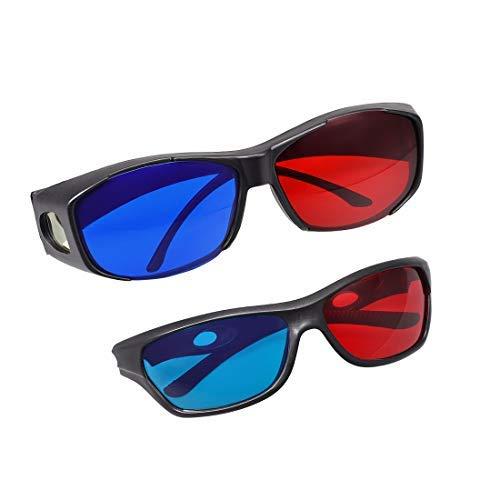 N/A - Gafas 3D con marco negro y cristal para pantalla 3D...