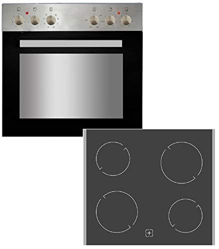 PKM BIC7 GK-IX-4 Einbauherdset 7 Funktionen XL Ofen Umluft Kochfeld