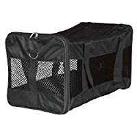 Made of polyester, can be opened at the front and top With extra pocket Removable, adjustable shoulder strap Short lead prevents the pet from jumping out With net inserts for good air circulation