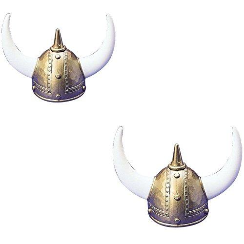 US Toy One Adult Plastic Viking Helmet - 2 Pack