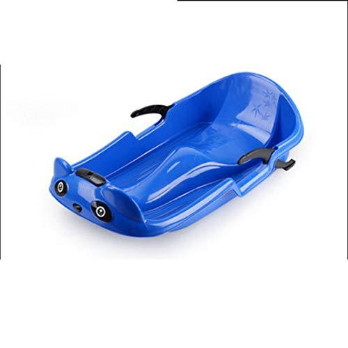 ZKZK Kunststoff Snowboard Snow Scooter Outdoor Schlitten Erwachsene und Kinder Schlitten Board Schnelle Schneeräummaschine (Blau) 70cm