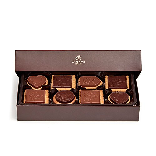 Godiva Chocolatier Chocolate Biscuit Gift Box, Assorted Chocolate Biscuits, Gift Box, Chocolate Cookies, Chocolate Covered Cookies, 20 pc