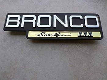 92-96 NEW Ford Bronco Eddie Bauer Side Door Fender F4TB-16B114-KA Emblem Nameplate Decorative Ornament Logo Decal