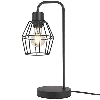 Premier Industrial Table Lamp, Bedside Desk Lamp for Nightstand, Vintage Edison Reading Lamp for Bedroom, Living Room, Dorm, E26 by LIUSUN LIULU