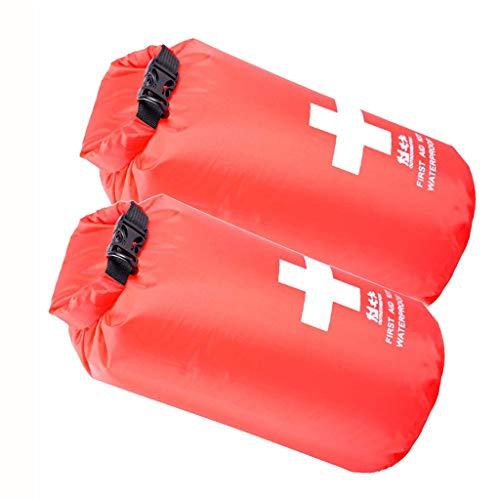 lahomia 2pcs Bolsa de Primeros Auxilios Impermeable 5L Kits de Emergencia Bolsa de Viaje Vacía