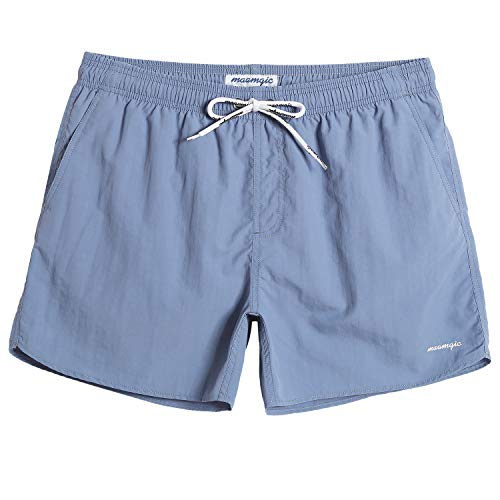 """MaaMgic Mens 5"""" Solid Short Swim Trunks with Mesh Lining Quick Dry Bathing Suits Swimming Shorts Swimsuit"""