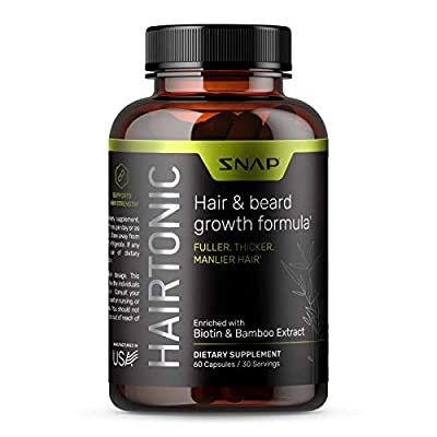 Hair Growth Supplement for Men - Hair, Skin and Nail Supplement - Hair Loss Supplement Vitamin with Biotin, Keratin, Bamboo - 60 Capsules