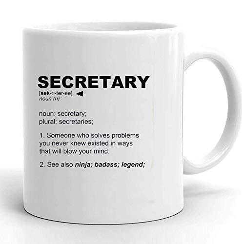 Idea de regalo para secretaria de la escuela, regalo para secretaria, regalo para empleados, regalo para maestros, regalo para compañeros de trabajo, regalos escolares, taza de café de cerámica person