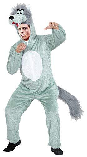 Das Kostümland Disfraz de Animal para Adultos: Divertido Disfraz de Carnaval, Ballet Masculino, Fiesta temática y Despedida de Soltero (Lobo, XL)