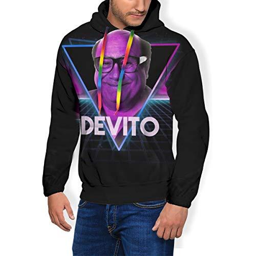 Danny Devito Retro 80s Triangle Graphic Hoodie for Men