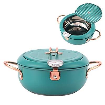 Germerse Friteuse de Cuisine, poêle à Frire Profonde en Acier Inoxydable, ustensiles de Cuisine cuiseurs à Induction pour cuisinière à gaz Outils de Cuisson cuisinière électrique