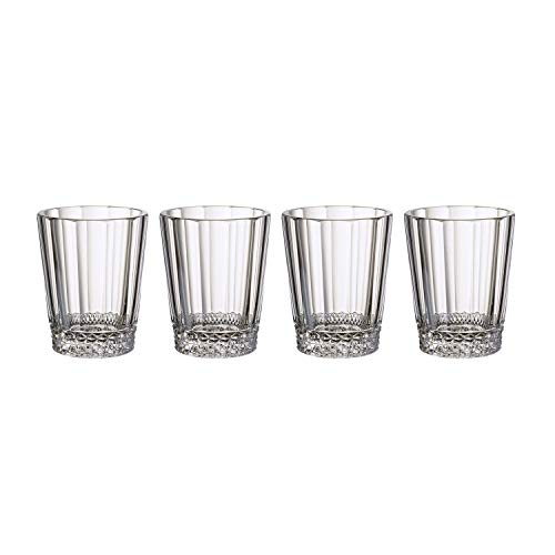 Villeroy & Boch Opéra Wasserglas, 4er-Set, 315 ml, Kristallglas, Klar