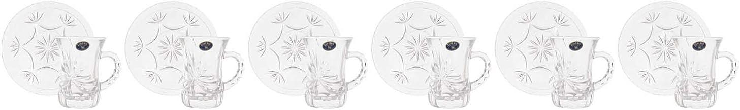 Bohemia Glass Coffee set, 6 Pieces - Clear
