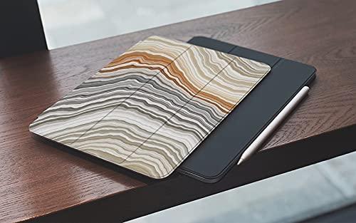 Funda para iPad 10.2 Pulgadas,2019/2020 Modelo, 7ª / 8ª generación,Naranja fibrosa Piedra Rebanada de ónix ancho Banda de mármol Naturaleza Patrón de á Smart Leather Stand Cover with Auto Wake/Sleep