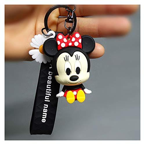 Dpsyszd Schlüsselbund Reizende Mickey Minnie Mouse Puppe DIY Keychain Action-Figur Schlüsselanhänger Tasche Ornaments Mädchen-Geschenk (Color : Minnie)