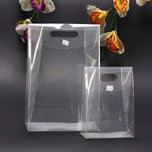 C.X.Y. 24pz Wedding Bag Borsa Regalo Ospiti Evento Matrimonio PVC Trasparente con la Chiusura (Grande 24CM(L)*12CM(P)*31.5CM(H))