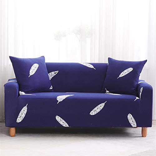 LWZZW Funda De Sofá De Esquina Sala De Estar Dormitorio 1/2/3/4 Asiento Funda De Sofá Elástica Antideslizante Pluma 1Q(2 Sitze)+(4 Sitze)
