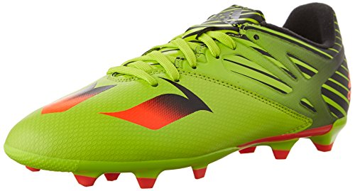 adidas Performance Messi 15.3 J Soccer Cleat (Little Kid/Big Kid), Semi Solar Slime/Solar Red/Black, 4.5 M US Big Kid
