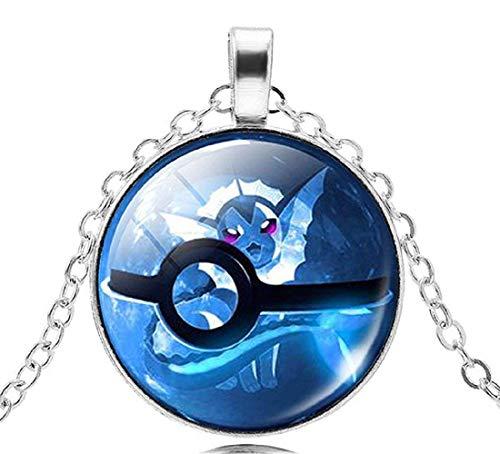 Inception Pro Infinite Pkmn2 - Pokemon Go Pokeball Pokeball Necklace (Azul)