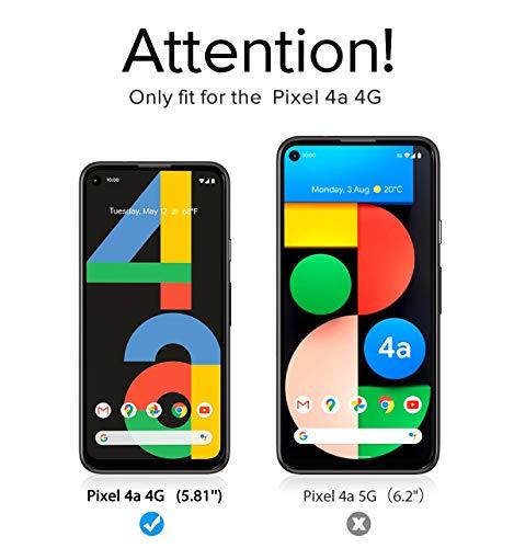 ivoler 4 Stück Panzerglas Schutzfolie Kompatibel für Google Pixel 4A 4G [Kein Kameraschutzfilm], Panzerglasfolie Mit Positionierhilfe, 9H Härte, Anti-Kratzen, Anti-Bläschen, Hülle freundlich