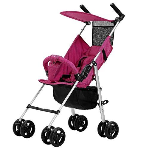Kinderwagen Lichtgewicht opvouwbare aluminium wandelwagen met luifel,Red