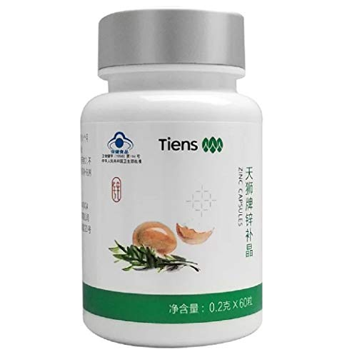 ZINC CAPSULES (310mg x60) By Tiens - Best Of Zinc Supplements - Zinc Capsules Not Zinc Tablets - Zinc Tablets For Women - Zinc Tablets For Men - Zinc Bisglycinate - High Potency - Aids Cell Growth - Boost Immunity - With Essential Amino Acids
