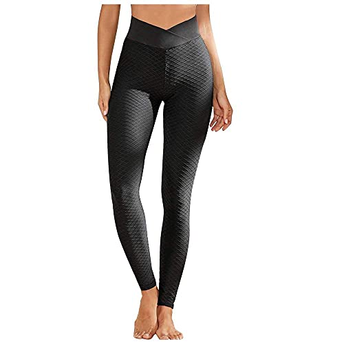 BAIDEFENG Alta Mallas Pantalones Deportivos Leggins,Medias de Cintura de melocotón para Mujer, Pantalones de Yoga sin Costuras-Negro_S,Mujer Pantalones De Yoga Deportivos
