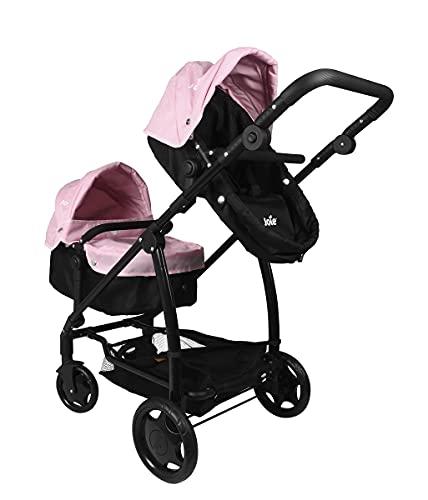 HTI Joie Kinderwagen Zwillinge Kombi - Kinderwagen Für 2 Kinder - Puppenwagen - Kinderwagen Spielzeug