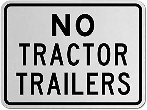 mengliangpu8190 Geen trekker Trailers teken, metalen waarschuwingsborden privé-eigendom, gevaar veiligheid teken plaque,Gate Sign,8