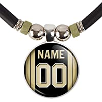 New Orleans Football Jersey Necklace Personalized with Your Name and Number