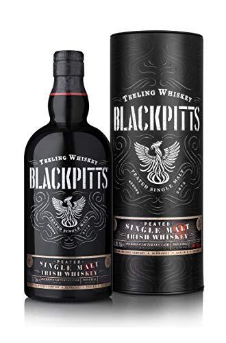 Teeling Blackpitts Peated Single Malt Irish Whiskey in Geschenkdose -Noten von Barbecue-Rauch, Nelken, Karamellbonbon und Orangenschale Whisky (1 x 0.7l)