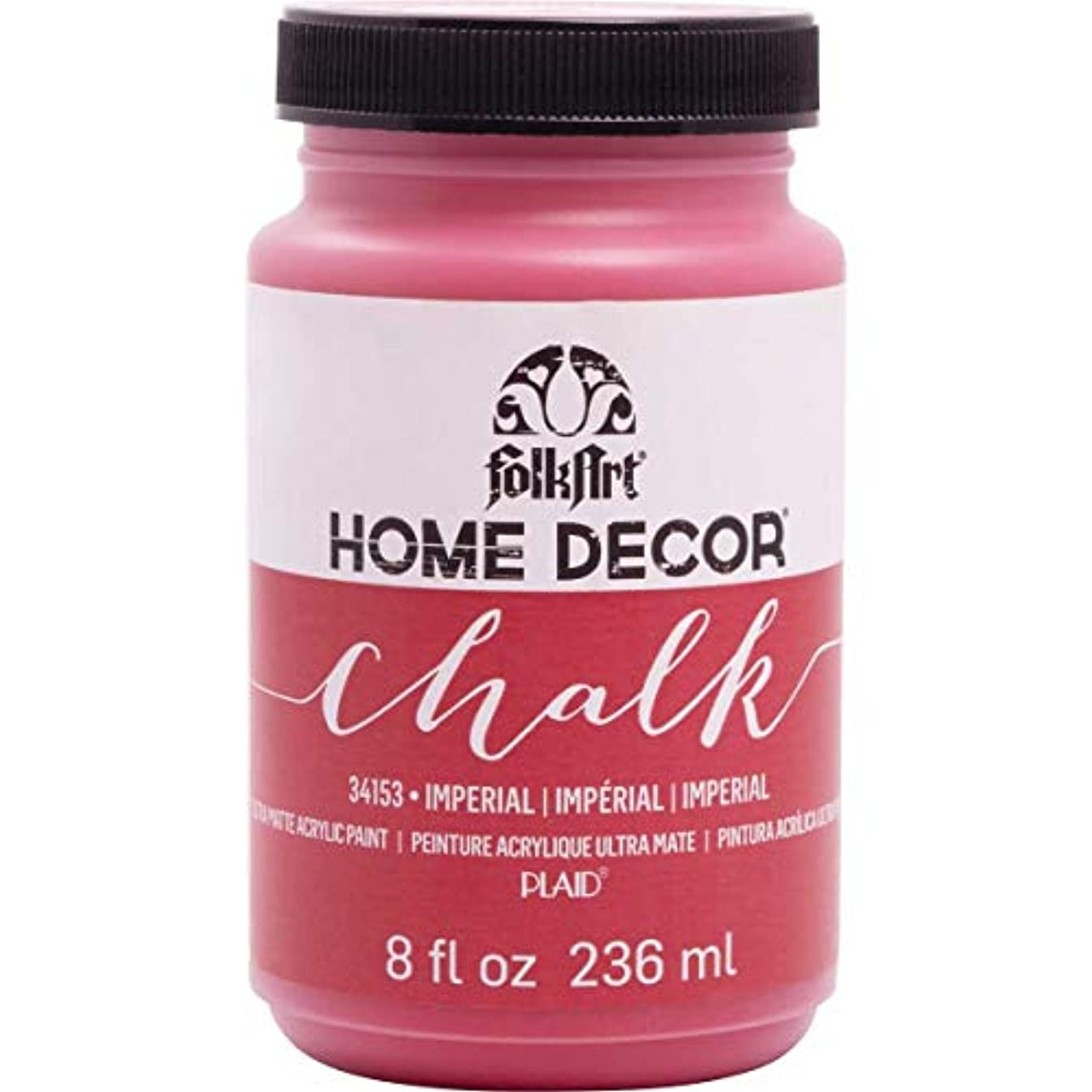 FolkArt Home Decor Chalk Furniture & Craft Paint in Assorted Colors (8 Ounce), 34153 Imperial
