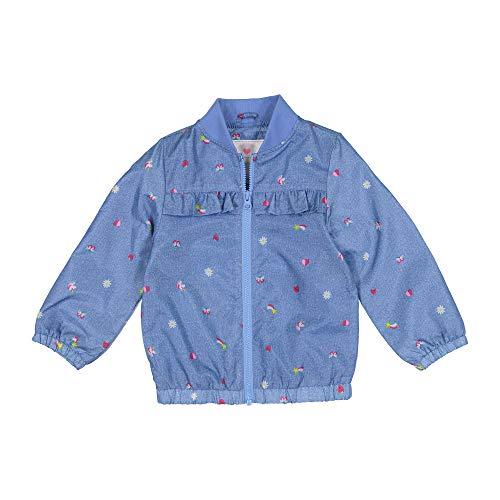 Carter's Girls' Toddler Lightweight Printed Jacket, Unicorns and Rainbows On Purple, 3T