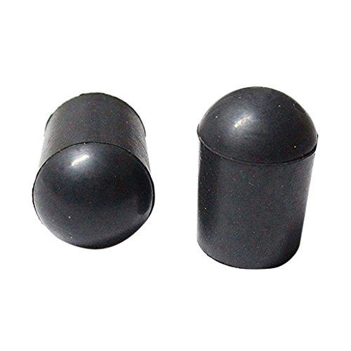 Punta de Goma Color Negro para Extremo de Contrabajo Vertical 2 Piezas