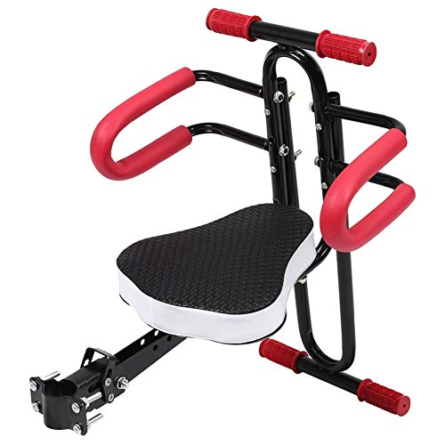 UIGJIOG Silla Bebe Bicicleta Delantera,Silla Delantera para niños para Bicicleta con cómodo Asiento. Soporta hasta 30 kg,Negro,Without Pedal