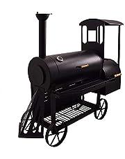 SYNTROX S-2 Lok Ahumador de lujo, barbacoa, asadero, horno ahumador, horno de carbón de leña, carrito de parrilla
