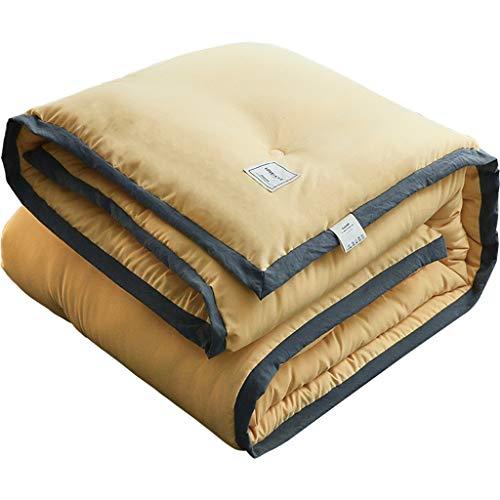 JIAJULL 220 * 240 cm, Down Casseure, Bettbezüge, Feststoffgelb, 5kg