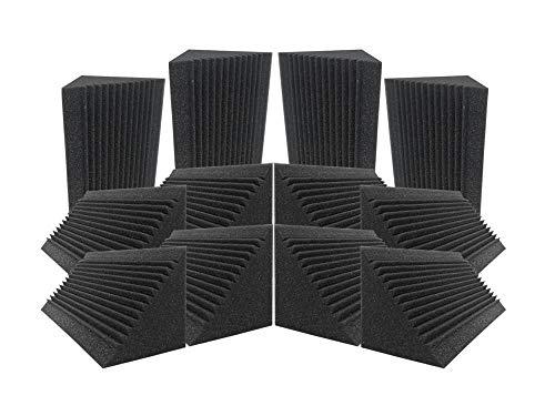 Acepunch 12 Tratamiento de Aislamiento acústico de Espuma acústica con Trampa de Graves de Esquina Multi-Corte 12 x 12 x 24 cm AP1169