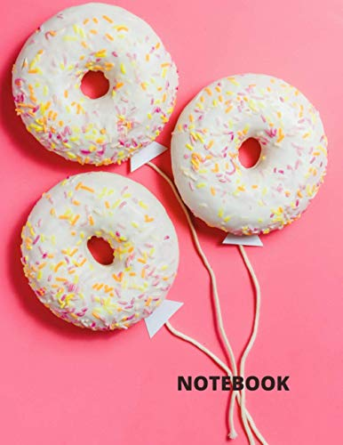 Donut Balloons With Sprinkles Notebook: Donut Balloons Birthday Party Decorations Notebook/Journal/Diary To Write In