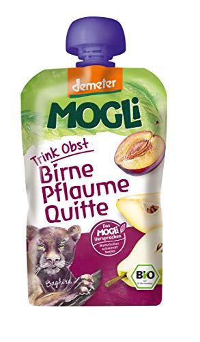 MOGLi Bio Demeter Trink Obst Quetschbeutel Pflaume 12er Quetschie Pack (12x100g)