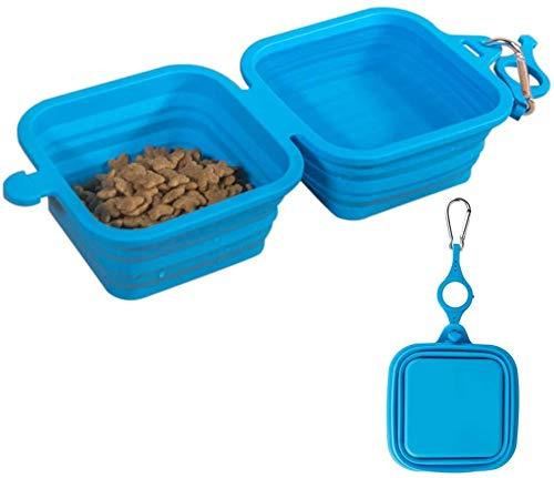 1 Par de Cuencos de silicona Plegable para mascotas,de Gran Capacidad,Apto para uso alimentario, Para exteriores,Viajes, Camping,Senderismo,Cuenco plegable para alimentación de perros,Sin BPA