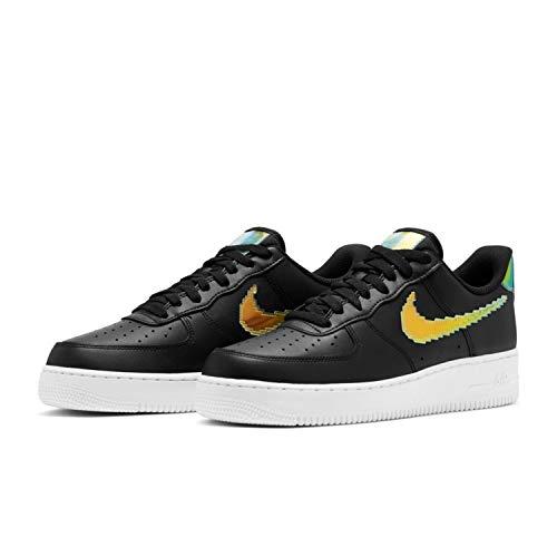 Nike Air Force 1 '07 LV8, Zapatillas de bsquetbol Hombre, Black Multi Color White, 47 EU