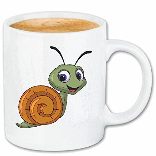 Taza párrafo café Caracol divertido CON babosas Schneckenhaus caracol caracoles lapa cerámica Altura 9.5 cm de diámetro de 8 cm de Blanco