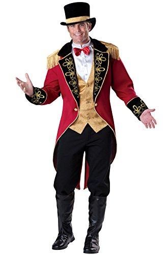 En costumes de personnages 213008 Adulte Costume Ringmaster - Rouge-Noir - X-Large