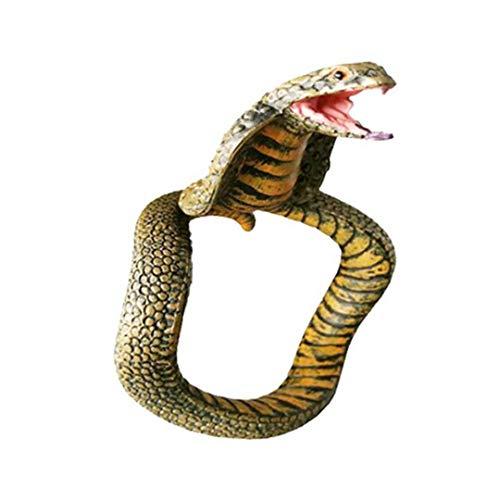 Bongles Modell Schlange-Armband Gummi Schlange Spielzeug Tragbarer Exquisite Schlange Größe Adjustable Prank Props Spielzeug-Schmucksachen Für Kinder Erwachsene