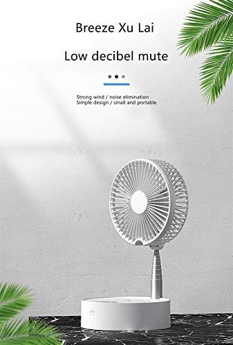 N/ A Pengtri In hoogte verstelbare staande ventilator, opvouwbare draagbare vloerventilator Super stille oplaadbare batterij Mini USB-ventilator voor thuis buiten en op kantoor
